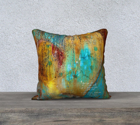 'In the End' Quote throw pillow cover - square