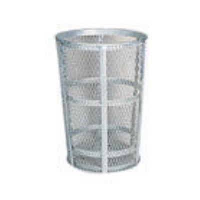 Rubbermaid Commercial Street Basket Trash Can, 45 Gallon, Stainless Steel, FGSBR52