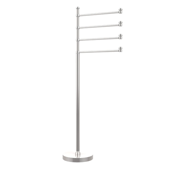 Allied Brass SB-84-PC Southbeach Collection 49-Inch Towel Stand with 4-Swing Arm, Polished Chrome