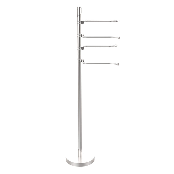 Allied Brass TR-84-SCH Tribecca Collection 49-Inch Towel Stand with 4-Swing Arm, Satin Chrome