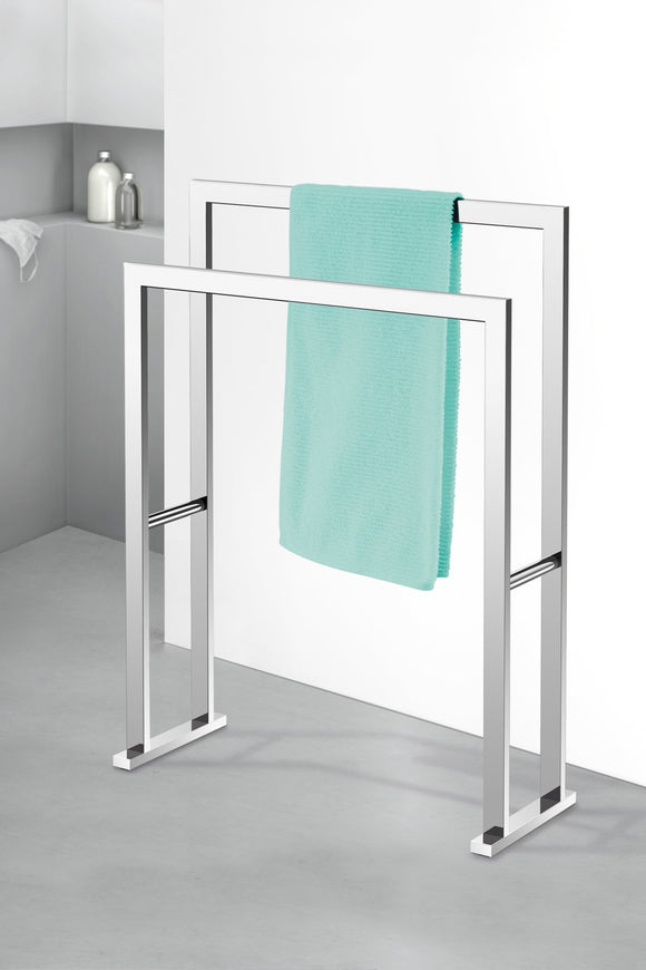 Zack 40040 Linea Towel Rack, 31.5 by 23.62 by 8.86-Inch, High Glossy Finish