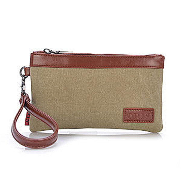 Retro Canvas Soft Long Clutch Bag