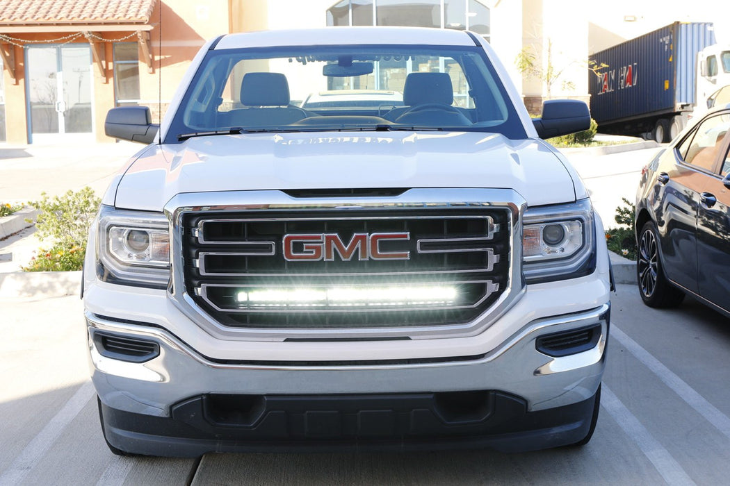 Gmc Sierra 1500 2500 3500 Hd Behind Grille Led Light Bar