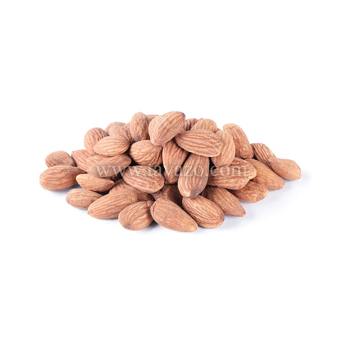 Raw natural shelled California almonds.