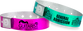"Custom Plastic 3/4"" x 10"" Holographic One Color Imprint Snapped Wristbands"