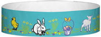 "A Tyvek® 3/4"" X 10"" Easter Multicolored wristband"