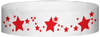 "A Tyvek® 3/4"" X 10"" Stars Red wristband"