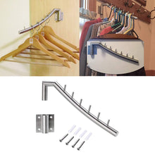 Wall Mount Clothing Rack - 2 Pack - Stainless Steel Hanging Drying Clothes Hanger with Swing Arm Holder - Heavy Duty Laundry Closet Storage Organizer Rod -Space Saver Clothing for Bedrooms, Bathrooms