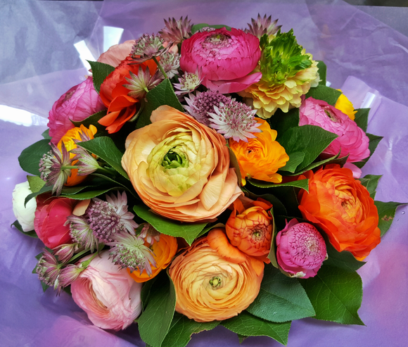 Colorful Ranunculus - HTC402 - Yeomans Flowers in London NW1