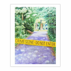 'Crime Scene - do not enter', (2006) oil on linen, 140 x 100 cm.