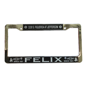 Felix Chevrolet License Plate Metal Frame - Metal Frame Only