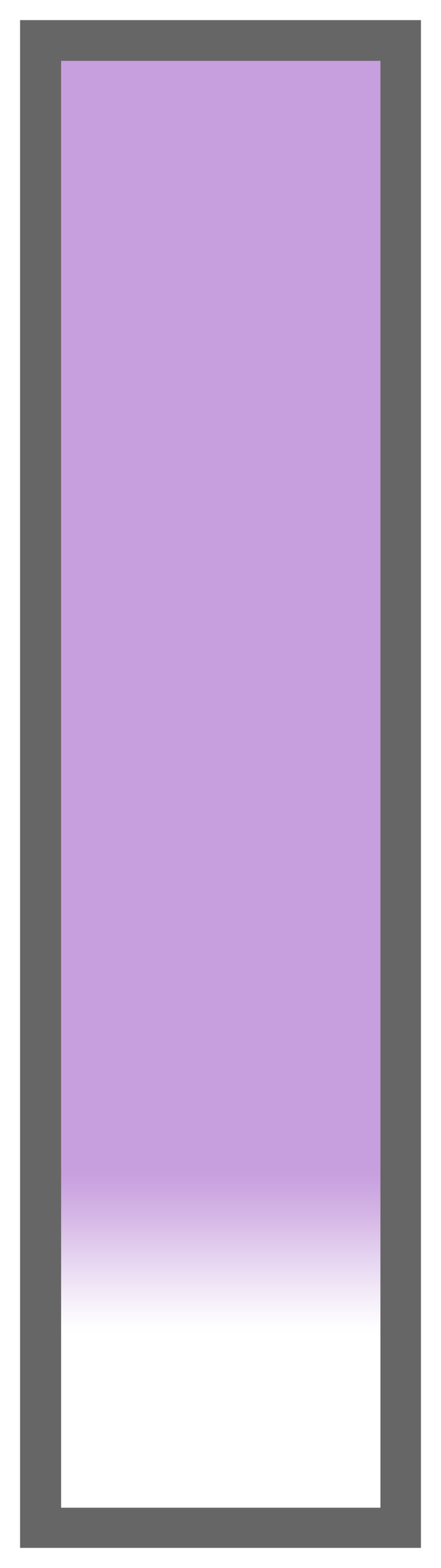 Light Purple Ombre-White Tail
