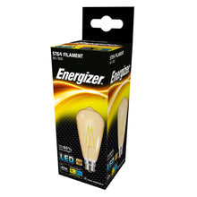 Load image into Gallery viewer, Energizer 5W (40W) LED Tear Drop Filament ST64 BC B22 - Warm White