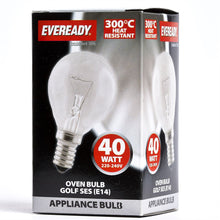 Load image into Gallery viewer, Eveready 40W SES E14 Oven Light Bulb