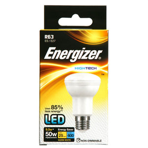 Energizer LED reflector light bulb, R63 10 watt = 60 watt box