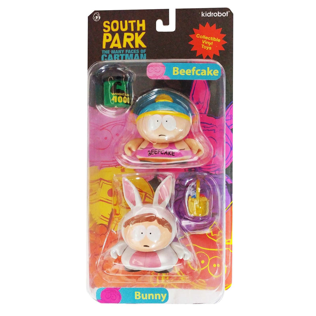 Kidrobot South Park Many Faces Of Cartman Beefcake Bunny Figure Set