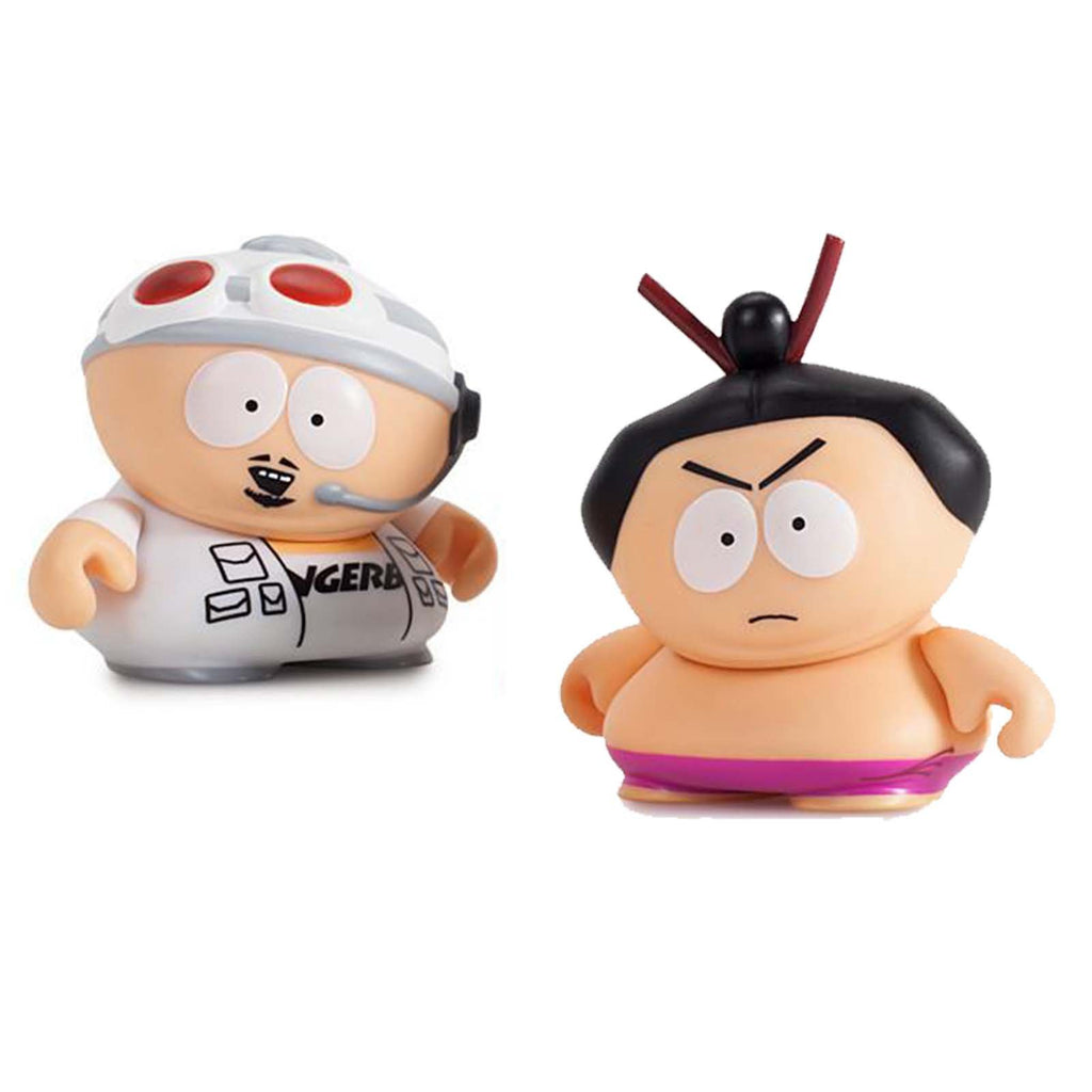 Kidrobot South Park Many Faces Of Cartman Fingerbang Sumo Figure Set