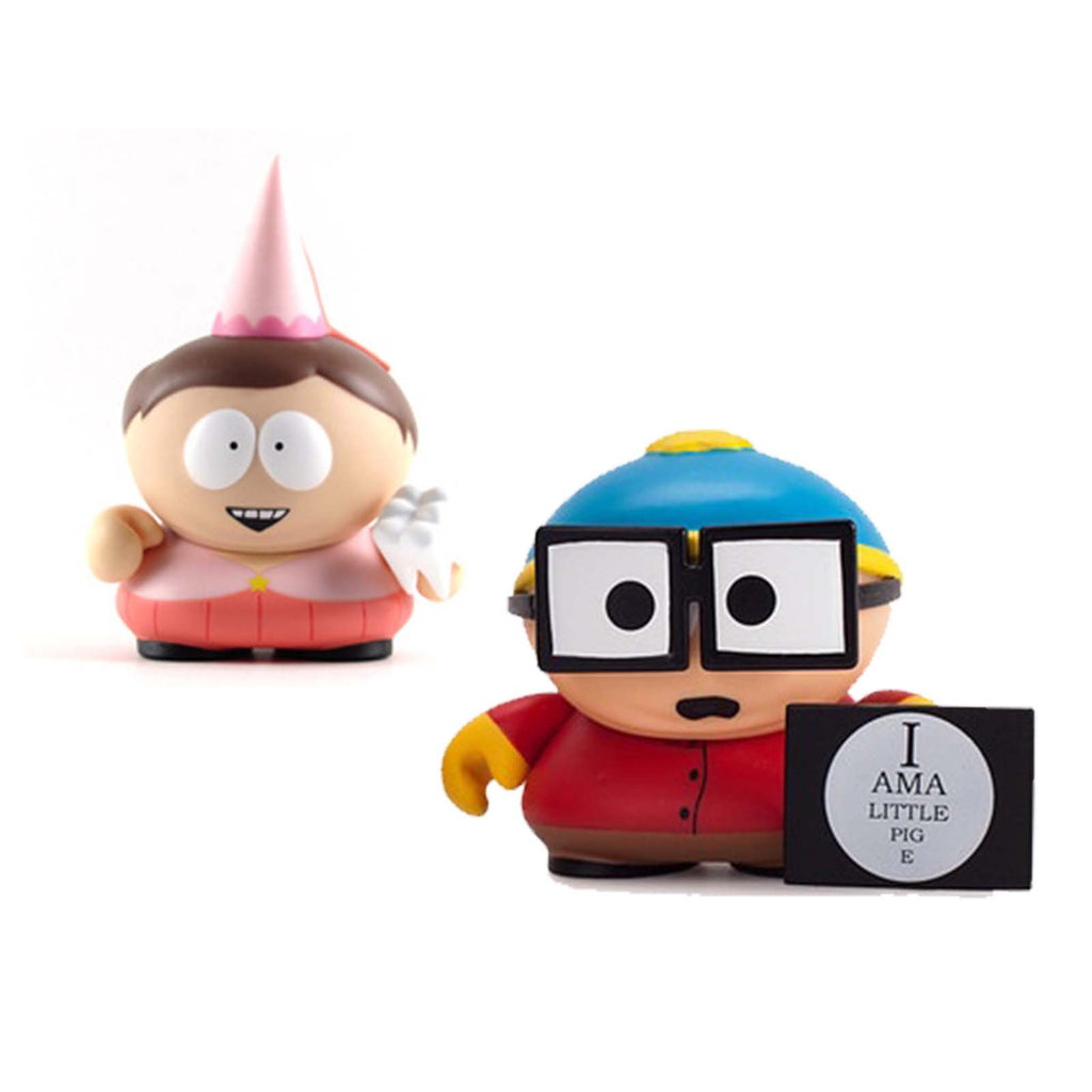Kidrobot South Park Many Faces Of Cartman Tooth Fairy Piggy Figure Set