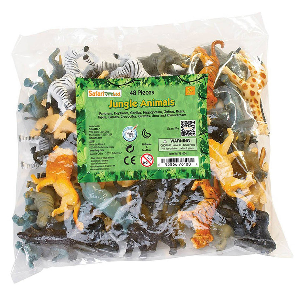 Jungle Animals Bulk Bag Mini Figures Safari Ltd - Radar Toys