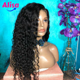 13x6 Deep Part Brazilian Curly Water Wave Lace Frontal Human Hair Wigs