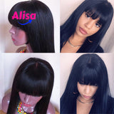 Straight Hair With Bang 13x6 Lace Frontal Wigs