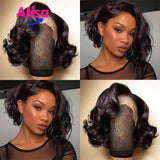 Fashion Short Bob Body Wave Wigs Full Lace Wigs In 2019