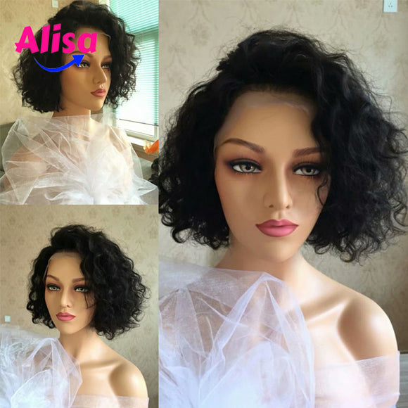 Short Bob Fashion Curly Wigs Full Lace Wigs