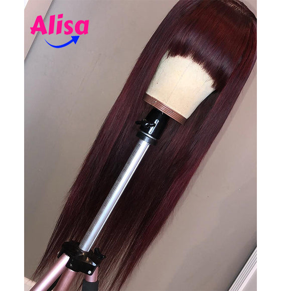 Red Color  Straight hair Full Lace Wigs With Band