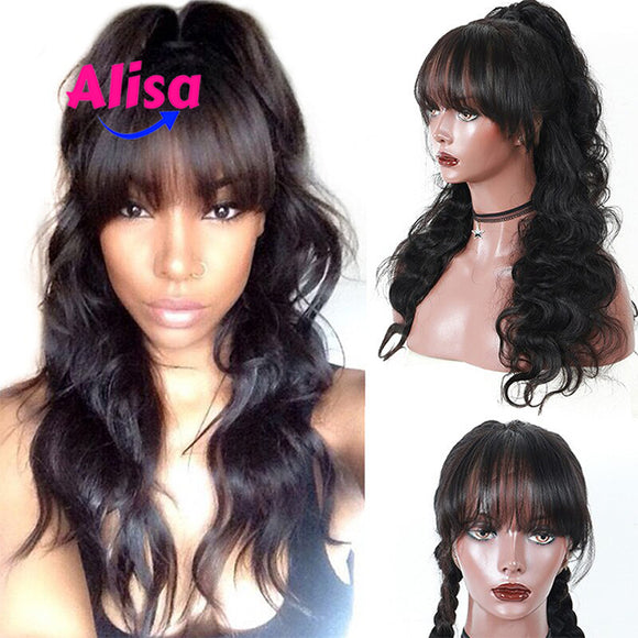 Body Wave With Bang 13x6 Lace Frontal Wigs