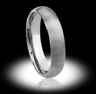 Thin Silver Mens Tungsten Wedding Ring - Vintagetears Jewellery Design