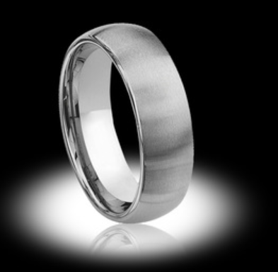 Thick Silver Mens Tungsten Wedding Ring - Vintagetears Jewellery Design