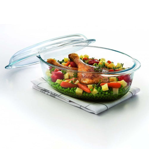 Pyrex 459A000 Essentials Oval Casserole with Lid
