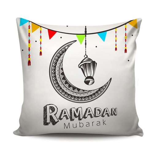 Ramadan Mubarak decoration cushion with simple design