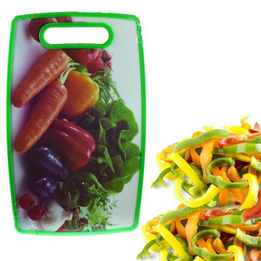 Rectangular cutting board with vegetables print
