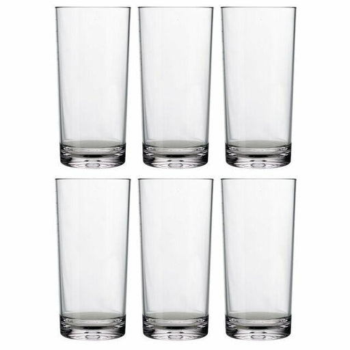 Set of 12 water glasses with simple design