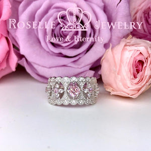 Lace vintage Floral Wedding Ring - BV5