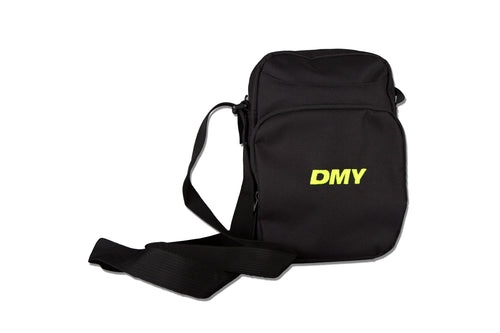 DMY Neon Yellow Embroidered Logo Across Body Bag