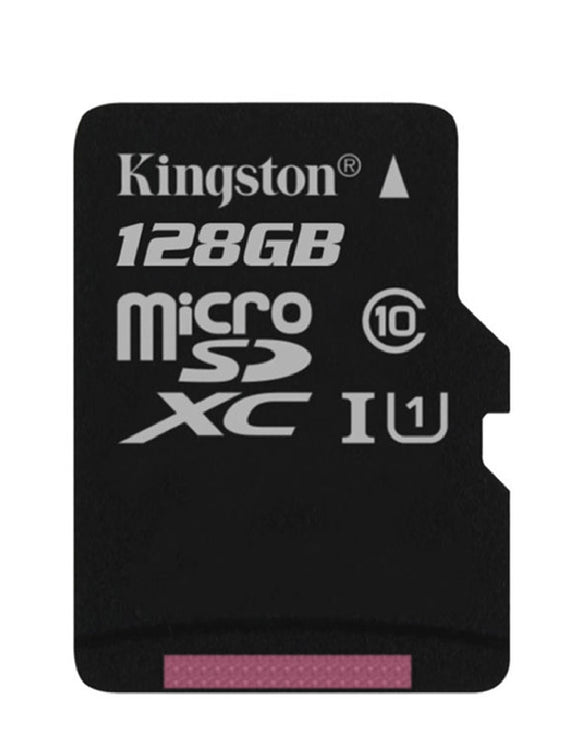 kingston canvas select 128g microsd sdsc/128gb front