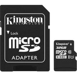 kingston canvas select 32g microsd with sd adapter sdsc/32gb front