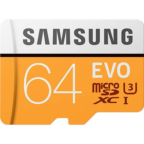 samsung evo 64gb micro sd memory card mb-mp64ga front