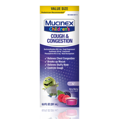 Children's Mucinex® Congestion & Cough Liquid, Very Berry, 6.8oz. (Packaging/Flavor May Vary)