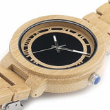 Hand-Crafted Bamboo Wood Watch For Men