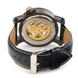 Hand-Crafted Wood & Leather Mechanical Watch For Men