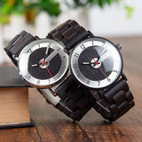 Hand-Crafted Stainless Steel & Wood Watch For Men - 2 Styles