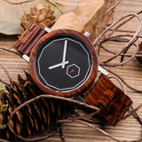 Hand-Crafted Stainless Steel & Wood Watch For Men