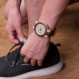 Hand-Crafted Wood & Leather Watch For Men - 2 Styles