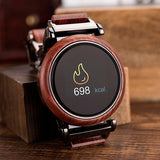 Hand-Crafted Stainless Steel & Wood Smart Watch - 3 Styles