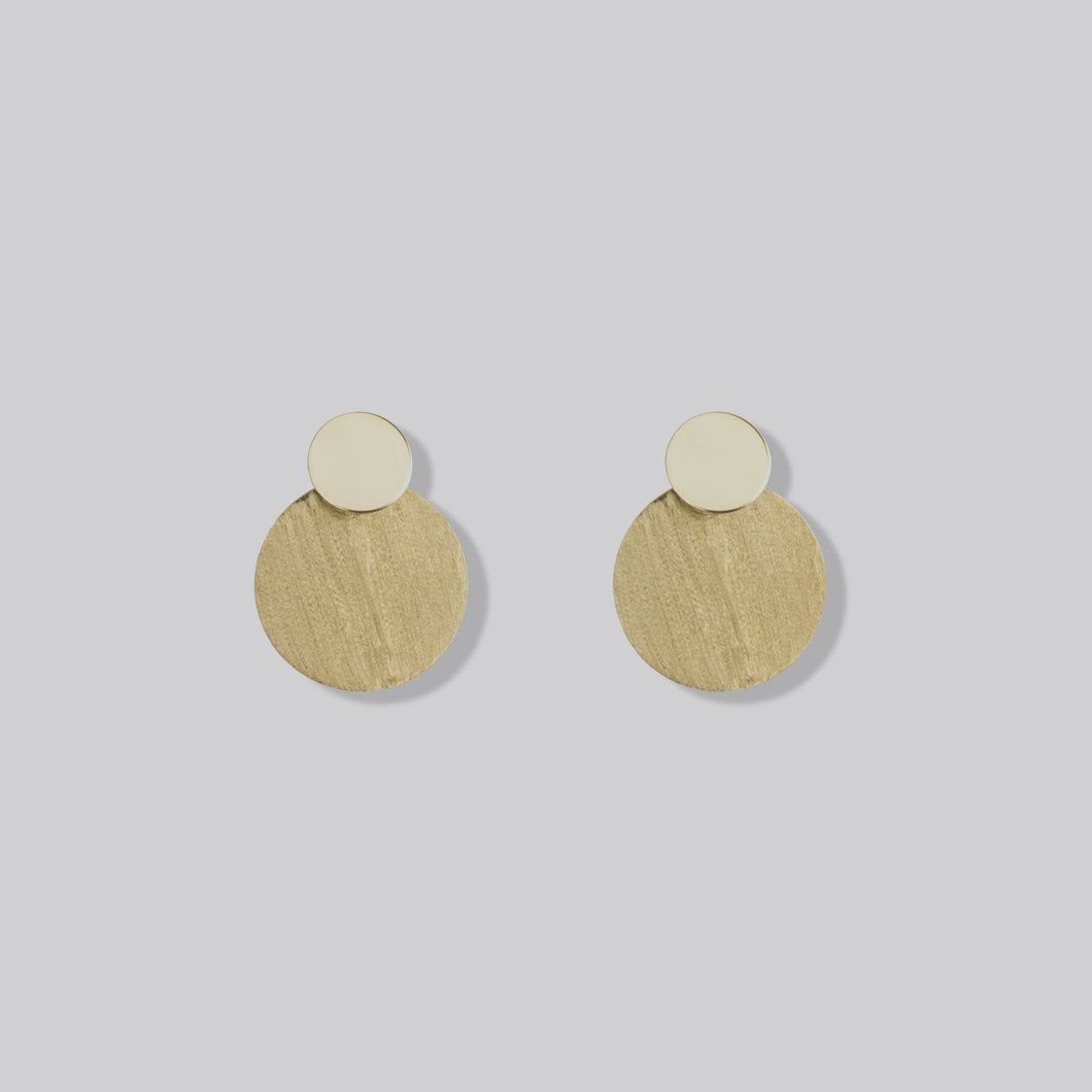 Golden Earrings With Two Coins