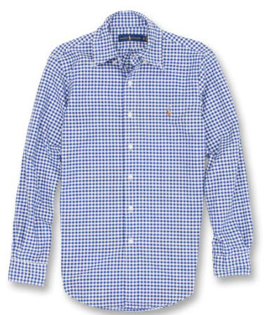 Polo Classic Fit Gigham Check Oxford Shirt