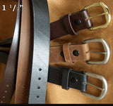 Marc Wolf  Leather Casual Belt